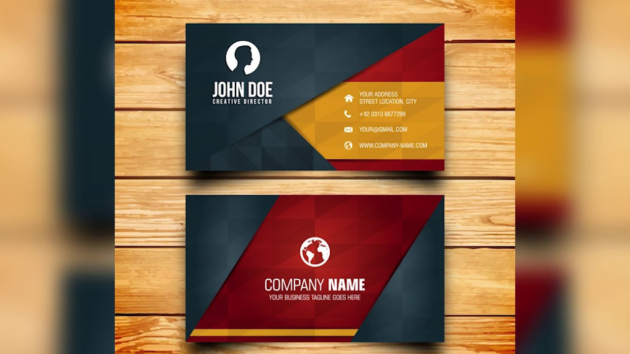 Business card design free photoshop template youtube business card design free photoshop template fbccfo Images