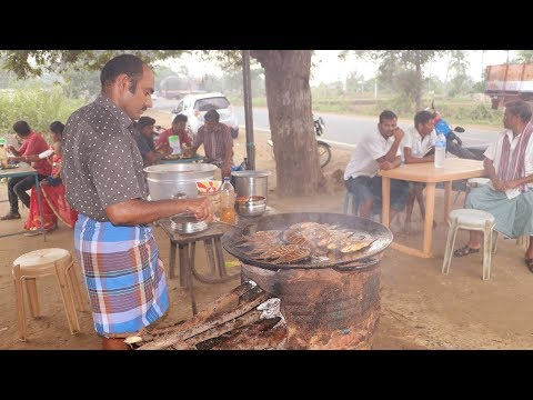 Fish Fry In Village Style | Fish Fried On Tawa | Indian Street Food  In Salem, India | Village Food