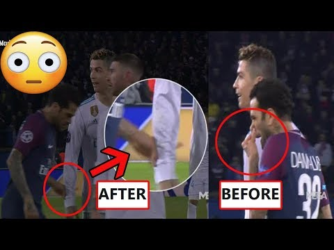WHAT DANI ALVES DID TO CRISTIANO RONALDO DURING PSG CLASH AGAINST REAL MADRID?!