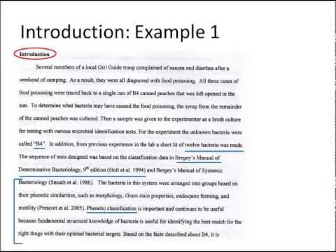 scientific introduction example