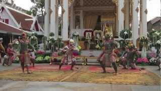 Thai Khon Dance at Funeral