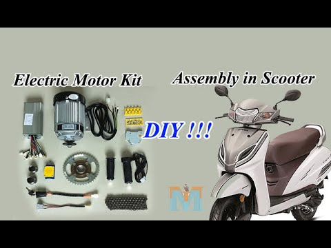 DIY I E-Scooter Conversion kit Installing I E-Bike Project I Honda Activa 100cc I MMI