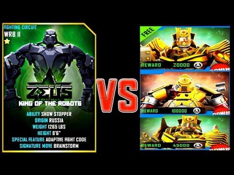 Real Steel WRB ZEUS (CHAMPION) VS SUMMER GAMES 2016 ROBOTS Series Fights NEW ROBOT (Живая Сталь)