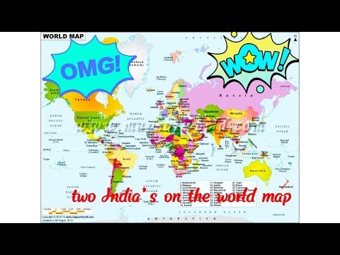 Two India's on the world map on national anthem of india, people of india, economy of india, road maps of india, atlas of india, shapes of india, princess of india, current president of india, continents of india, geographical features of india, elephants of india, water of india, blue of india, emblem of india, currency of india, bangladesh of india,