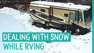 WINTER RV CAMPING - RVING IN THE SNOW AND COLD (FULL TIME RV LIVING) - LIVE YOUR SOMEDAY NOW