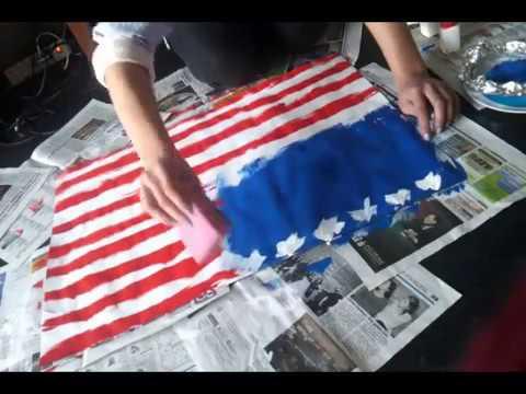 amerika flagge selber malen youtube. Black Bedroom Furniture Sets. Home Design Ideas