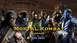 All of Scorpion and Sub-Zero's Fatalities/Super Moves/X Rays/Fatal Blows/Victory Poses(Mk9-Mk11)