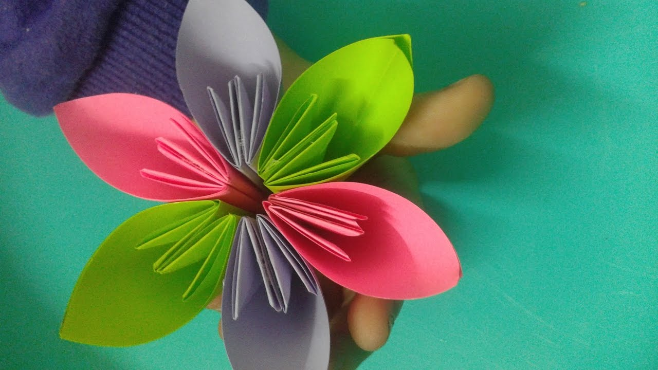 Origami flower for kids origami decoration tutorial youtube origami flower for kids origami decoration tutorial mightylinksfo