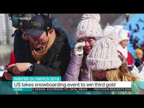 Chloe Kim wins winter Olympics gold in women's halfpipe snowboarding