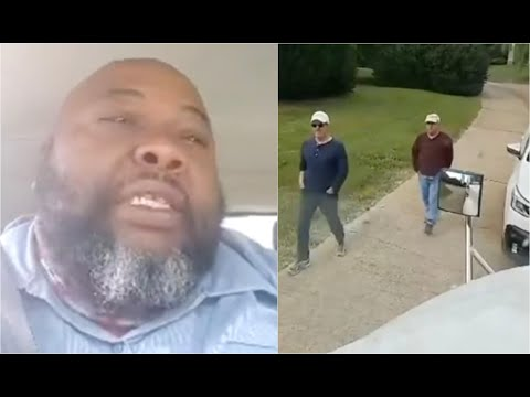 Black Delivery Driver Starts Crying After Being Held Against Will By White Homeowners In Gated Comm.