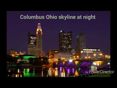 The Columbus Ohio skyline at night