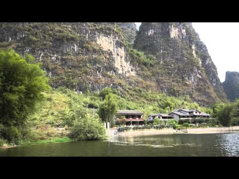 Yangshuo Mountain Retreat from the Yulong River, Yangshuo Guilin China 桂林阳朔胜地酒店