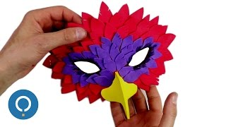 DIY Bird Mask - EVA foam crafts