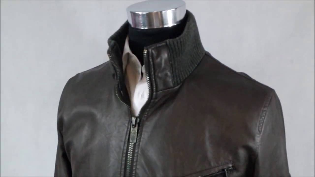 eedac0431 aaa LEE COOPER Faux Leather Brown Jacket