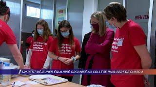 Yvelines | Un petit-déjeuner équilibré organisé au collège Paul Bert de Chatou