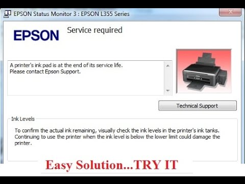 Epson L120 Troubleshooting