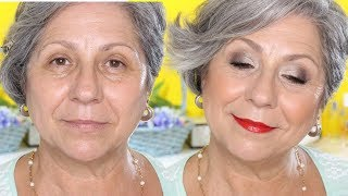 LOOK NATURAL EN OJOS Y ROSTRO  // Makeupmasde40
