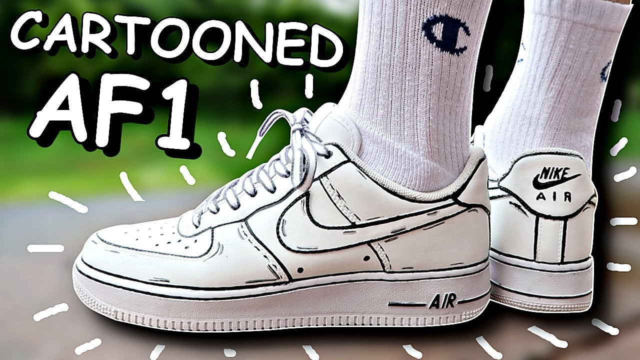 CARTOON AIR FORCE 1 CUSTOM!! (TUTORIAL)