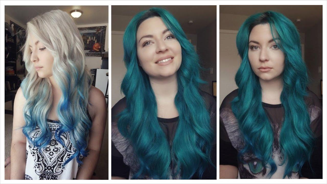 dyed hair sea green