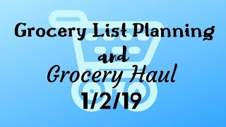 Grocery List Plan with Me I Grocery Haul I Food Lion Grocery Haul