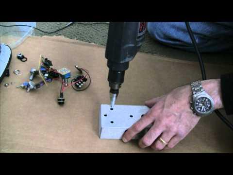 Drilling a 125B Guitar Effects Pedal Enclosure
