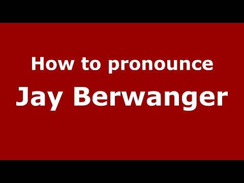 How to pronounce Jay Berwanger (American English/US)  - PronounceNames.com