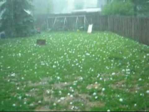 VERY Large Hail Storm - YouTube