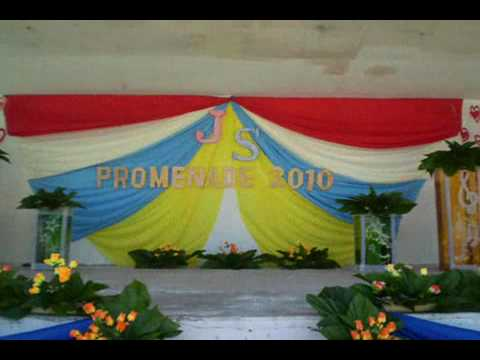 Culasi nhs stage decoration js prom 2010 youtube for Annual function stage decoration