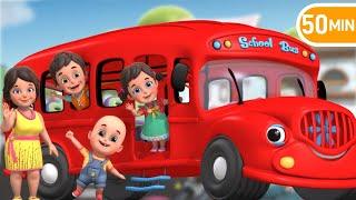 The wheels on the bus  | garage red car | Nursery Rhymes | Kids Songs - jugnu kids