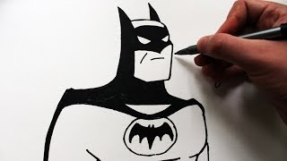 Como Desenhar o Batman [Animated Series] - (How to Draw Batman) - SLAY DESENHOS #168