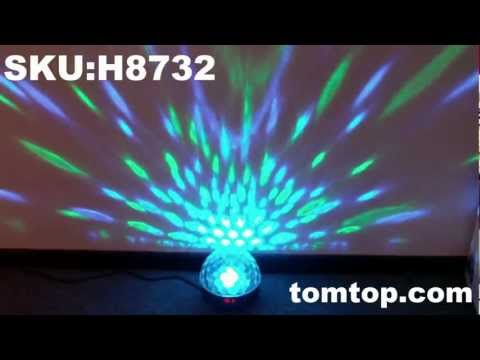 Crystal Magic Ball Effect Light DMX Disco DJ Stage Lighting - TomTop LED light