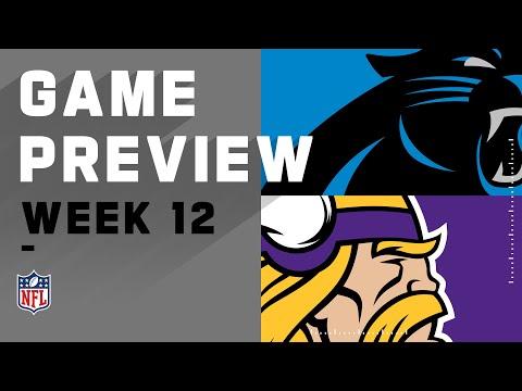 Carolina Panthers vs. Minnesota Vikings   Week 12 NFL Game Preview