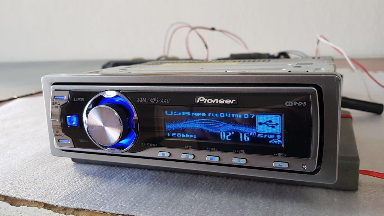 Pioneer deh-p7150ub ve Pioneer deh-p6050ub orjinal motorize kafa acilisi ve cd surucusu testi