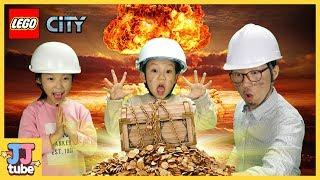 [꿀잼 상황극] 숨겨진 보물을 찾아라! 레고 시티 광산에 황금을 찾는 보물탐험본부 60188 꿀잼 상황극 장난감 놀이  [제이제이 튜브-JJ tube]