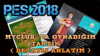 PES 2018 MYCLUB TAKTİĞİM ( DETAYLI ANLATIM )