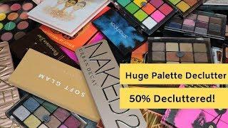 Huge Eyeshadow Palette Declutter | 50% Gone
