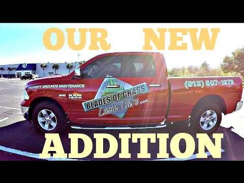 New 2017 lawn care truck wrap-vinyl decal