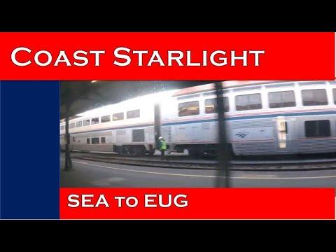 AMTRAK'S COAST STARLIGHT - Day 1 Seattle to Eugene