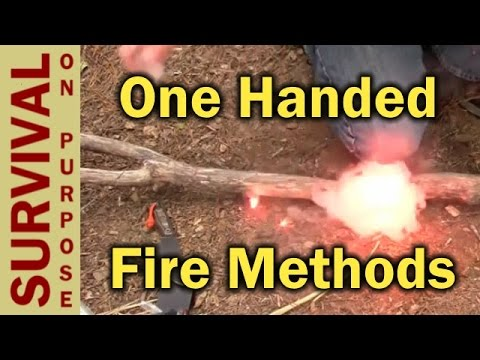 One Handed Fire Starting Hacks - Survival Skills - Firestarter Videos