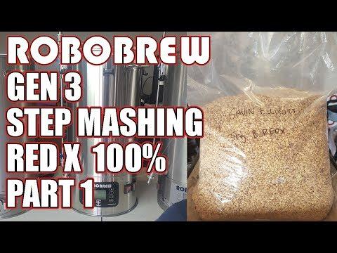 ROBOBREW GEN 3 - STEP MASHING - RedX 100% - PART 1 - Brewzilla