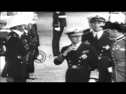 King George VI ascends the throne abdicated by his elder brother King Edward VIII...HD Stock Footage