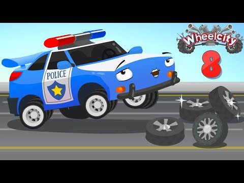 Wheelcity - The Police Car Flash Fire Truck RED Learn to get presents New Kids Video - Episode #8