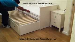 Ikea Hemnes Day (trundle) Bed With 3 Drawers White V2