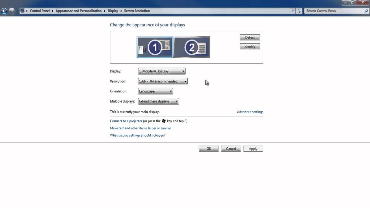 windows 10 hdmi to tv settings