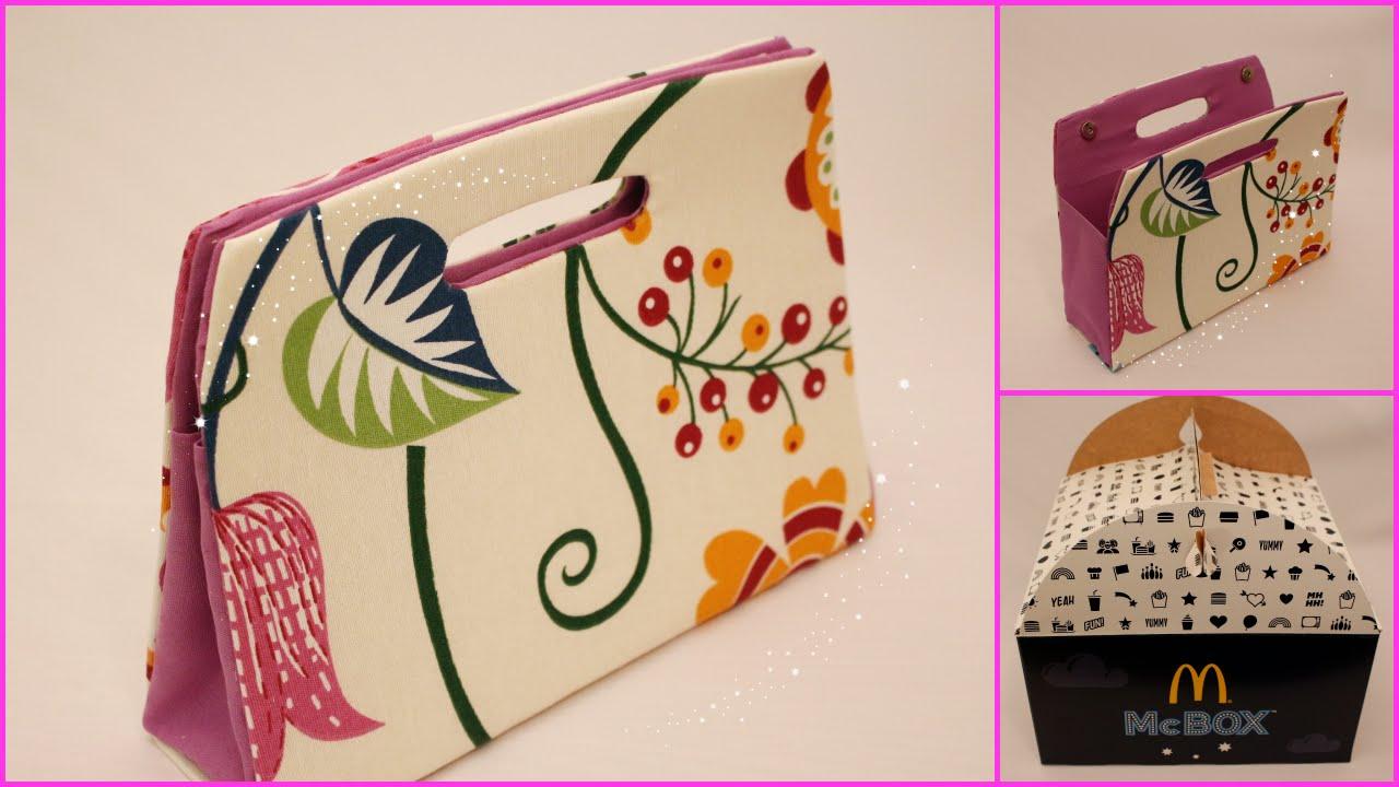 Bolsa De Mão Artesanal Como Fazer : Como fazer uma bolsa de festa usando caixa papel?o