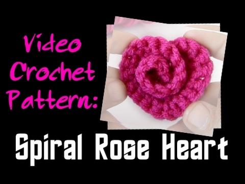 Crochet Pattern Spiral Rose Heart Youtube