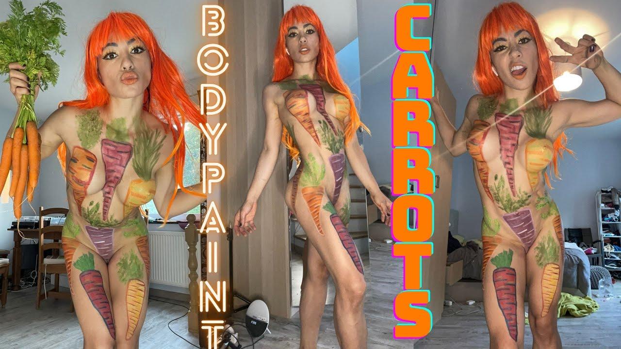 BodyPaint Carrots / Como Pintar Zanahorias / Art MakeUp Carrots / BodyPainting Zanahorias / Carrot