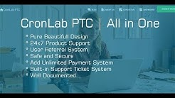 CronLab PTC | All in One Script for PTC, HyIp, Crypto Trade & Money Investment