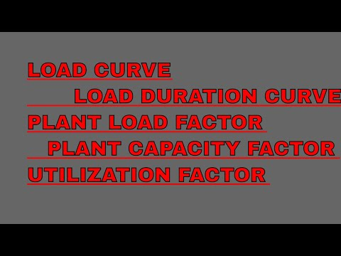 Load curve,average load, plant load factor,plant capacity factor,utilization factor(2)