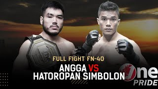 Darah Mengucur! 😭 Angga VS Hatoropan Simbolon II Full Fight One Pride MMA FN 40